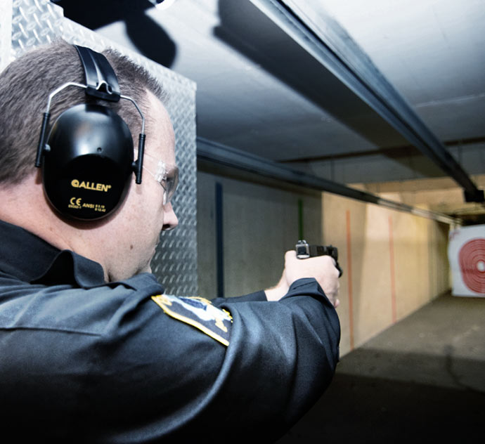 Williamson County Sheriff Candidate 2022, Jeff Diederich at Shooting Range